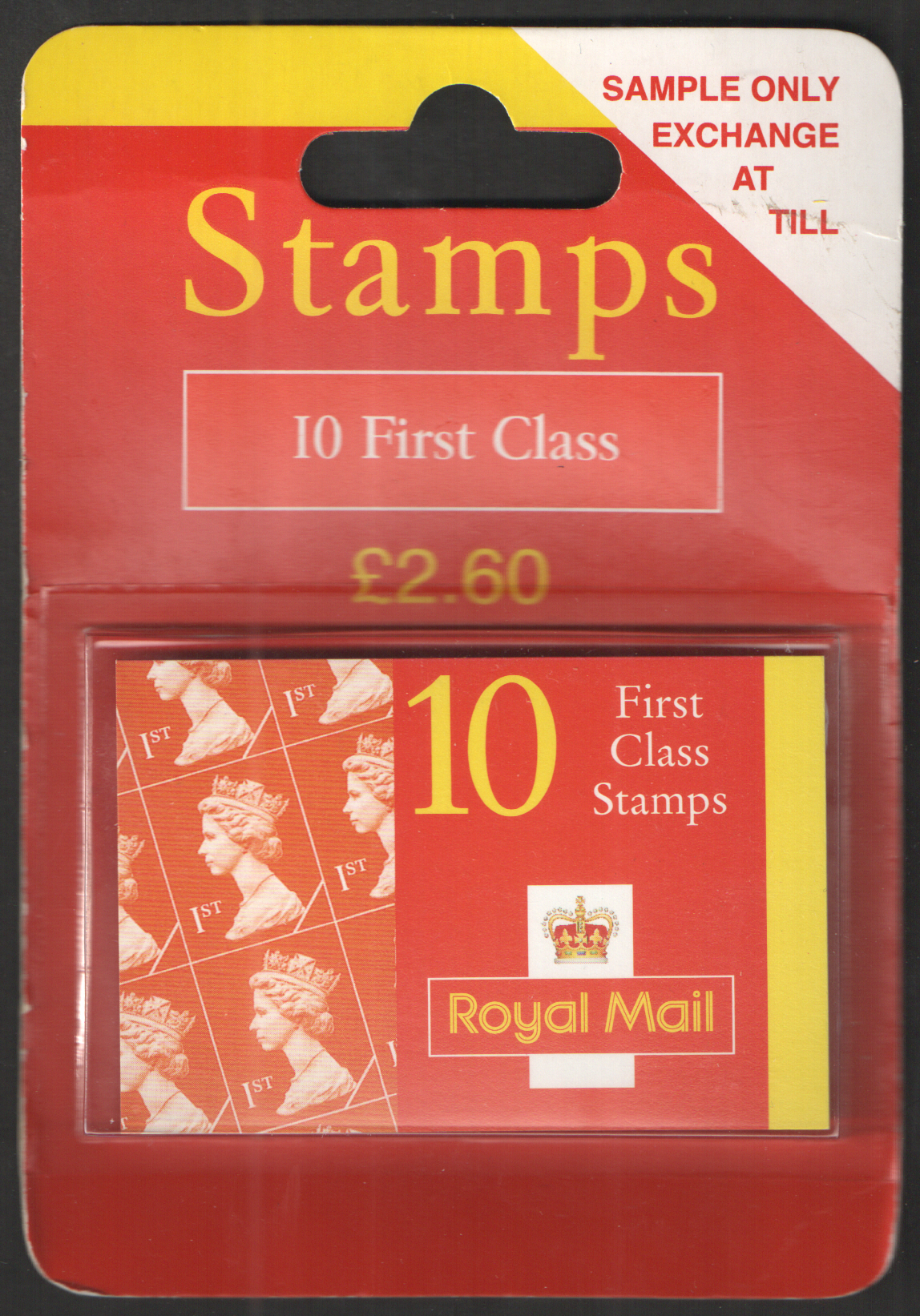 "Type 9 ""Sample Only Exchange At Till"" 10 x 1st Class Booklet"