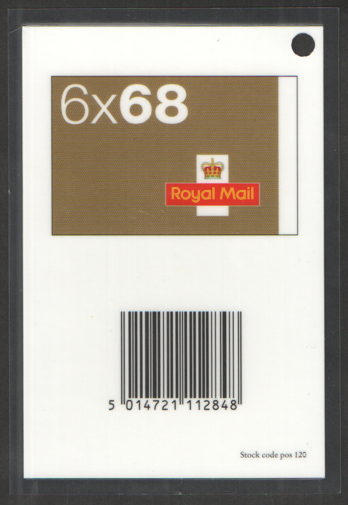 Scanning tag for NB1 6 x 68p self adhesive booklet