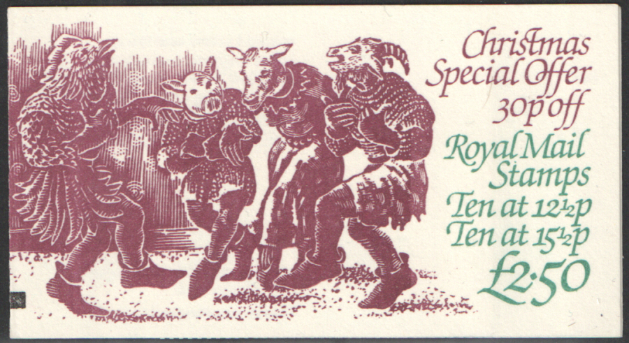 FX5 / DB10(5) + BMB 1982 Christmas Booklet. Small paper adhesion to back cover.