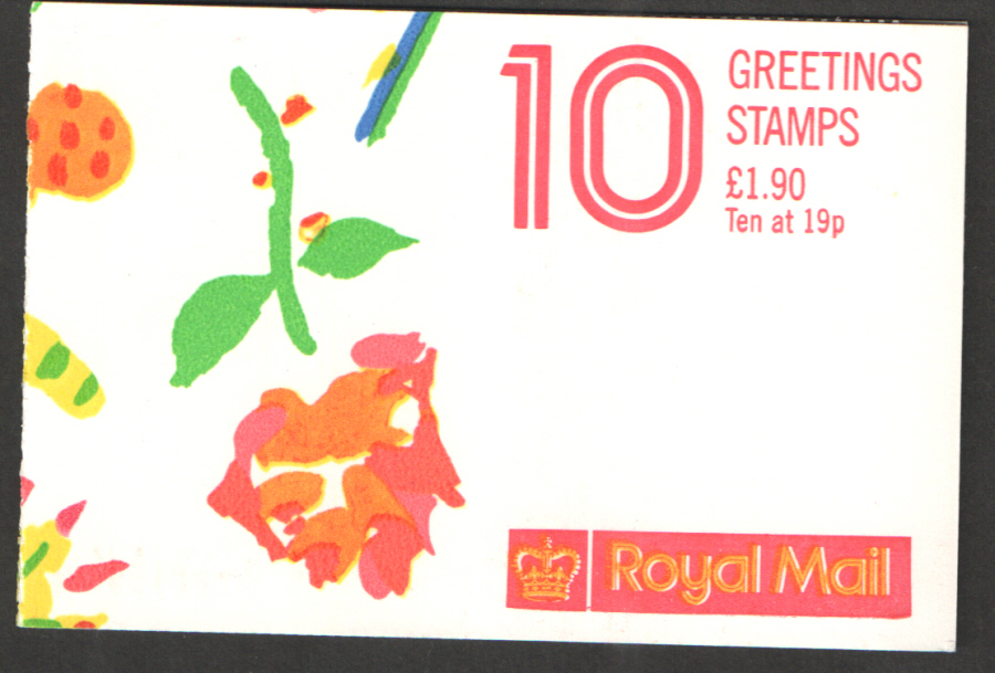 FY1 / DB13(1)/1 Cyl B1A - B1G Perforated Gutter 1989 Greetings Booklet