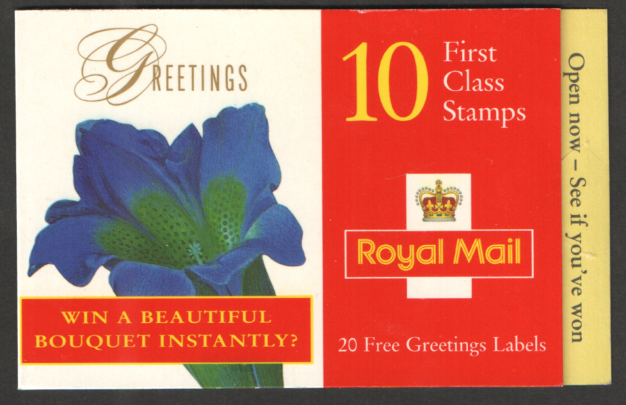 KX10 / DB13(11) 1997 Win A Bouquet (Loser) Greetings Booklet