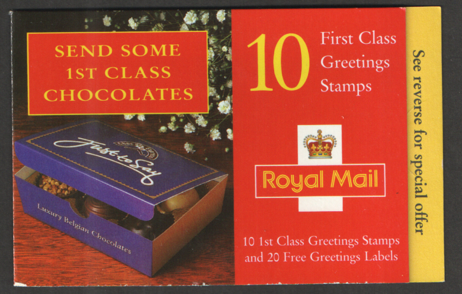 KX11 / DB13(12) 1998 Chocolates Greetings Booklet