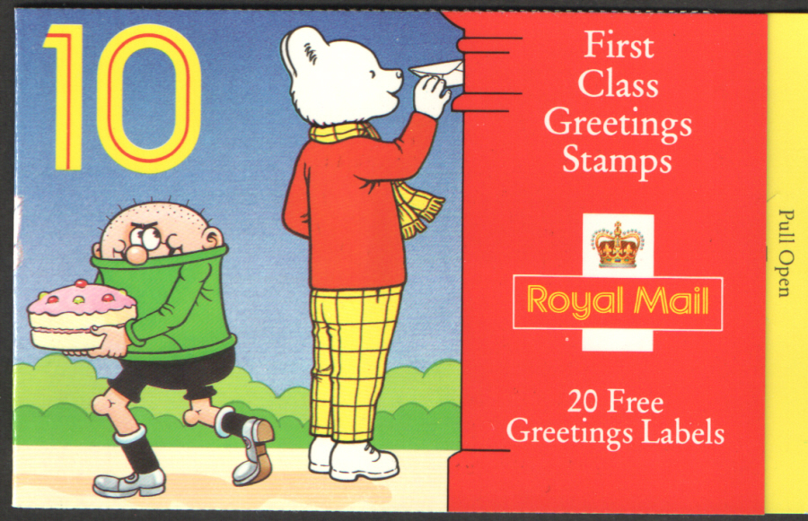 KX5 / DB13(6) 1993 Rupert Greetings Booklet (1st printing)