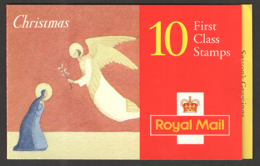 LX11 / DB12(14) 1996 10 x 1st Class Christmas Booklet