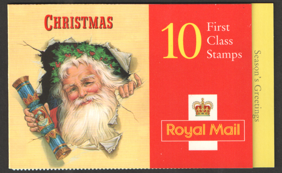LX13 / DB12(16) 1997 10 x 1st Class Christmas Booklet