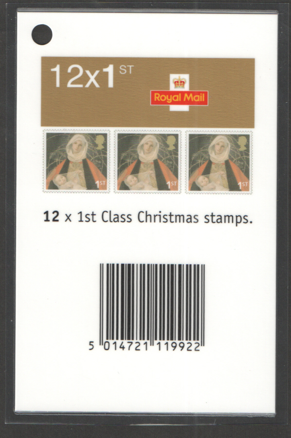 Christmas 2005 1st & 2nd Class Booklets Barcode Scanning Tag