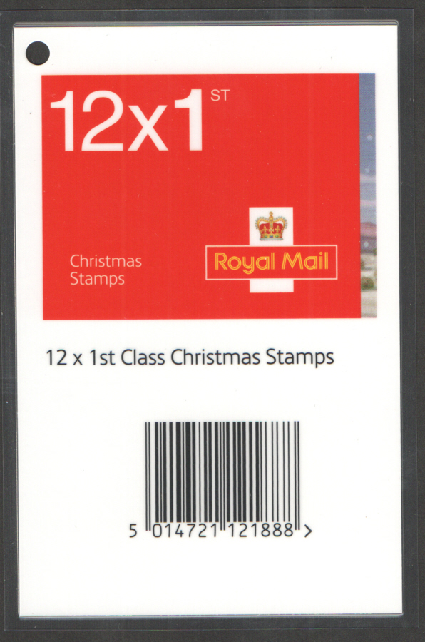Christmas 2007 1st & 2nd Class Booklets Barcode Scanning Tag