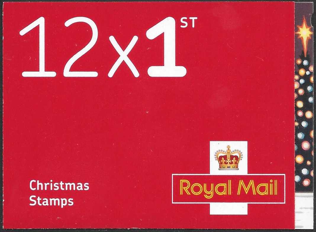 LX58 / SB6(37) 2018 12 x 1st Class Christmas Booklet