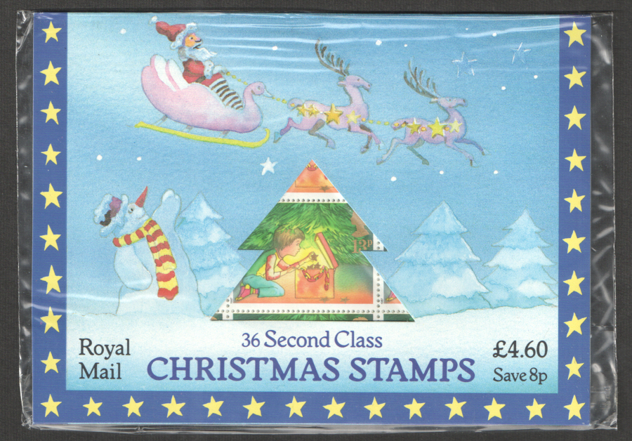 1987 Christmas Folder 36 x 13p stamps - Click Image to Close