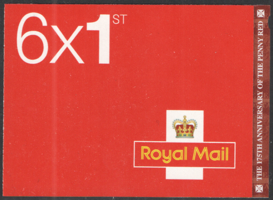 MB16 / SB5(29) Cyl W1 2016 Penny Red 175th Anniversary 6 x 1st Class Booklet