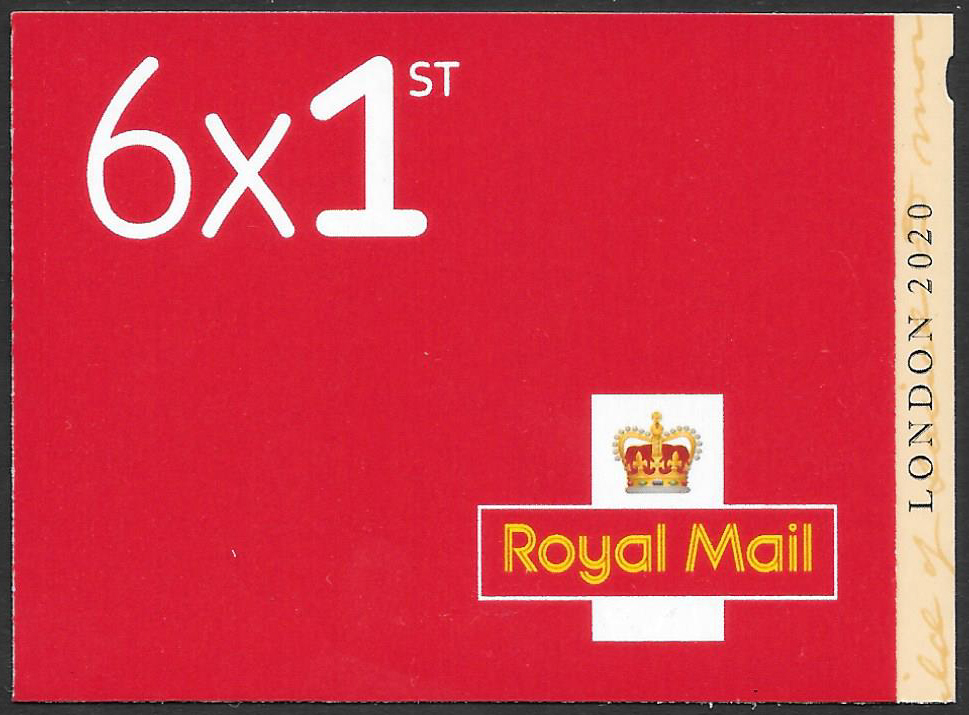 MB21 / SB5(34) London 2020 Stamp Exhibition 6 x 1st Class Booklet