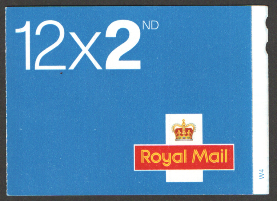 ME5a / SB2(10)B Cyl W4 MA10 / MTIL 7.5mm strip Walsall 12 x 2nd Class Booklet