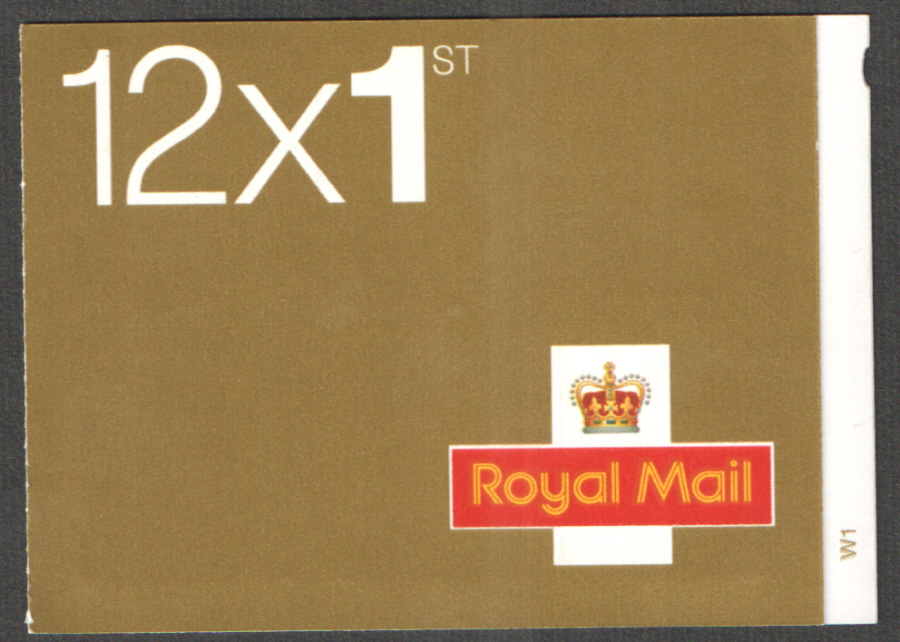 MF3 / SB1(8) Cyl W1 Dull Fluor 35mm imprint 2002 Walsall 12 x 1st Class Booklet