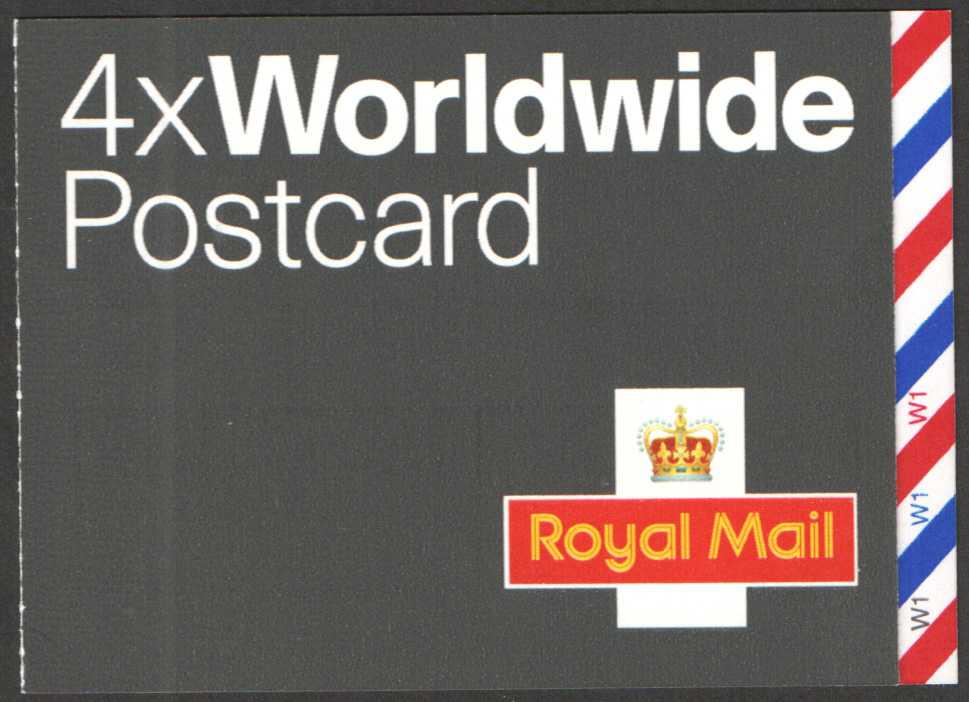 MJA1 / SB4(9) Cyl W1 Walsall 4 x Worldwide Postcard Booklet