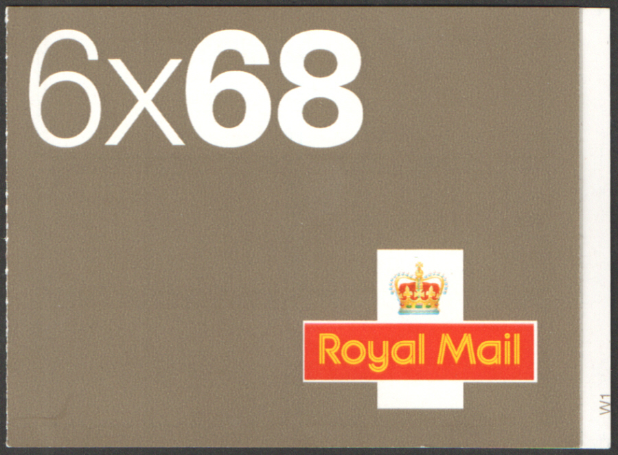 NB1 / SB4(3) Cyl W1 2002 Walsall 6 x 68p Self Adhesive Booklet