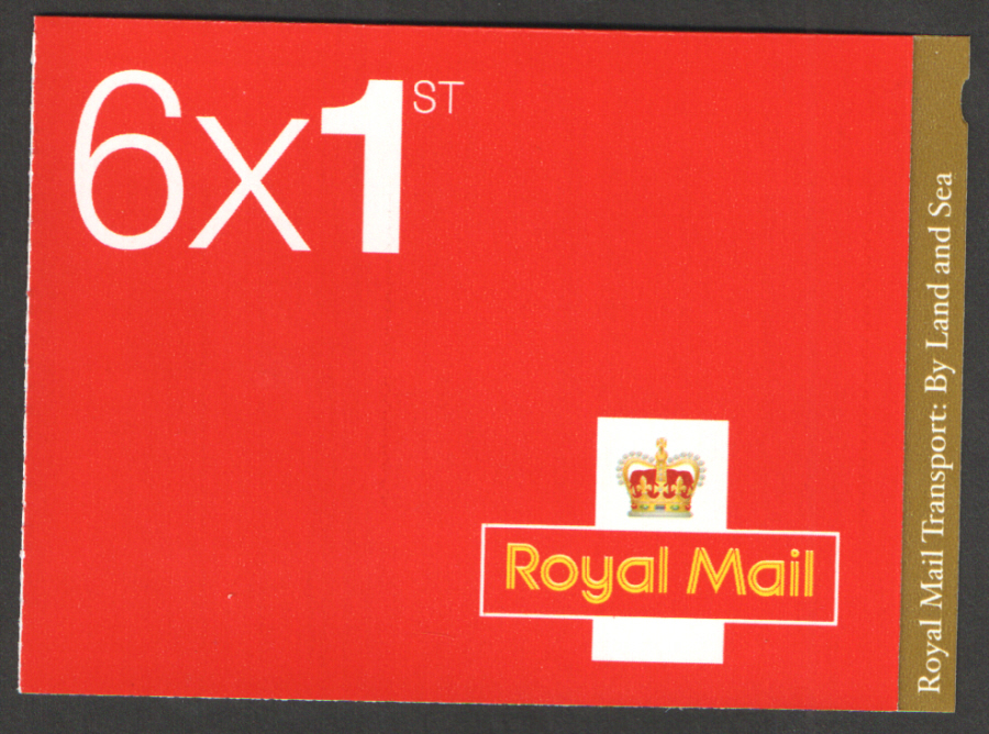PM40 / SB3(40) 2013 Royal Mail Transport 6 x 1st Class Booklet