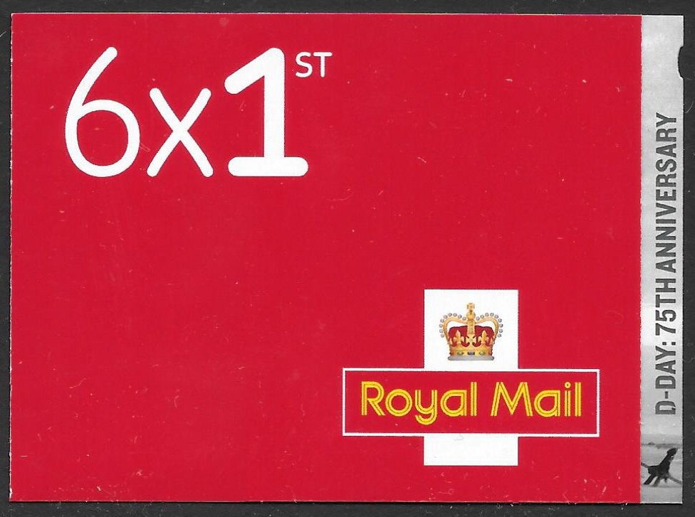 PM67 / SB3(67) Cyl W1 2019 D-Day 75th Anniversary 6 x 1st Class Booklet