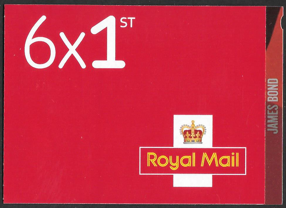 PM72 / SB3(72) 2020 James Bond 6 x 1st Class Booklet
