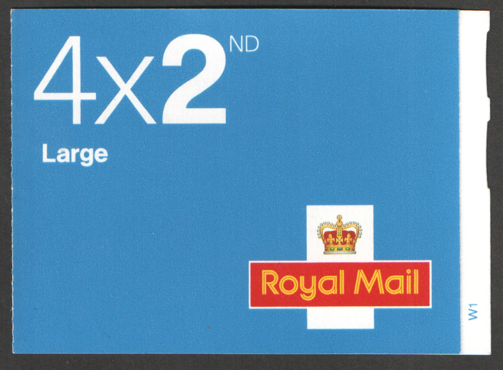 RA1 / SB2(7) Cyl W1 2006 Walsall 4 x 2nd Class Large Booklet