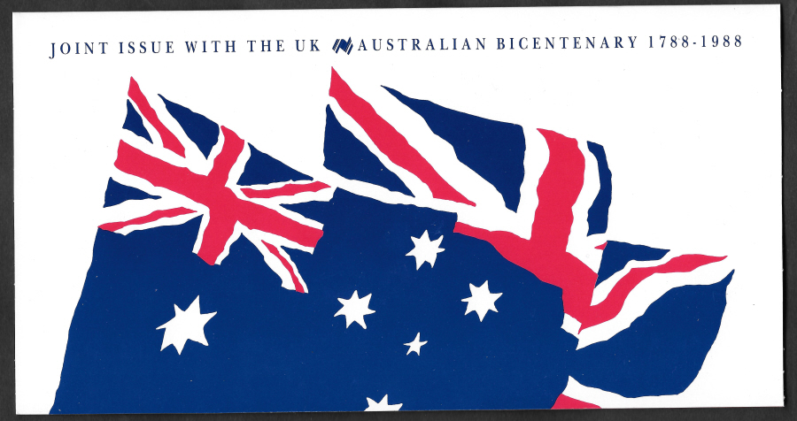 1988 Australia Bicentenary Joint Issue Souvenir Presentation Pack / Card