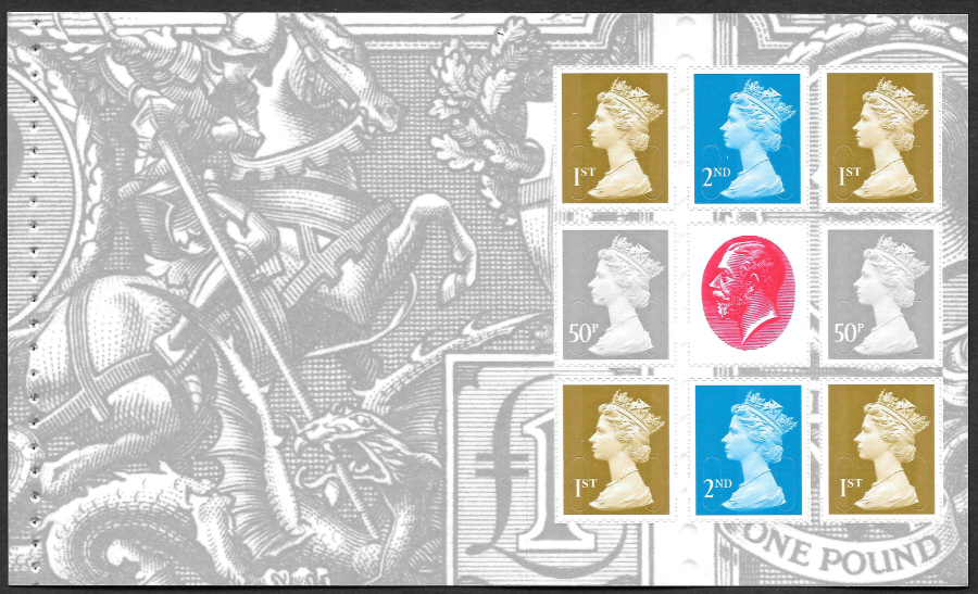 Pane DP422 Type 2 slits from 2010 George V Prestige Booklet