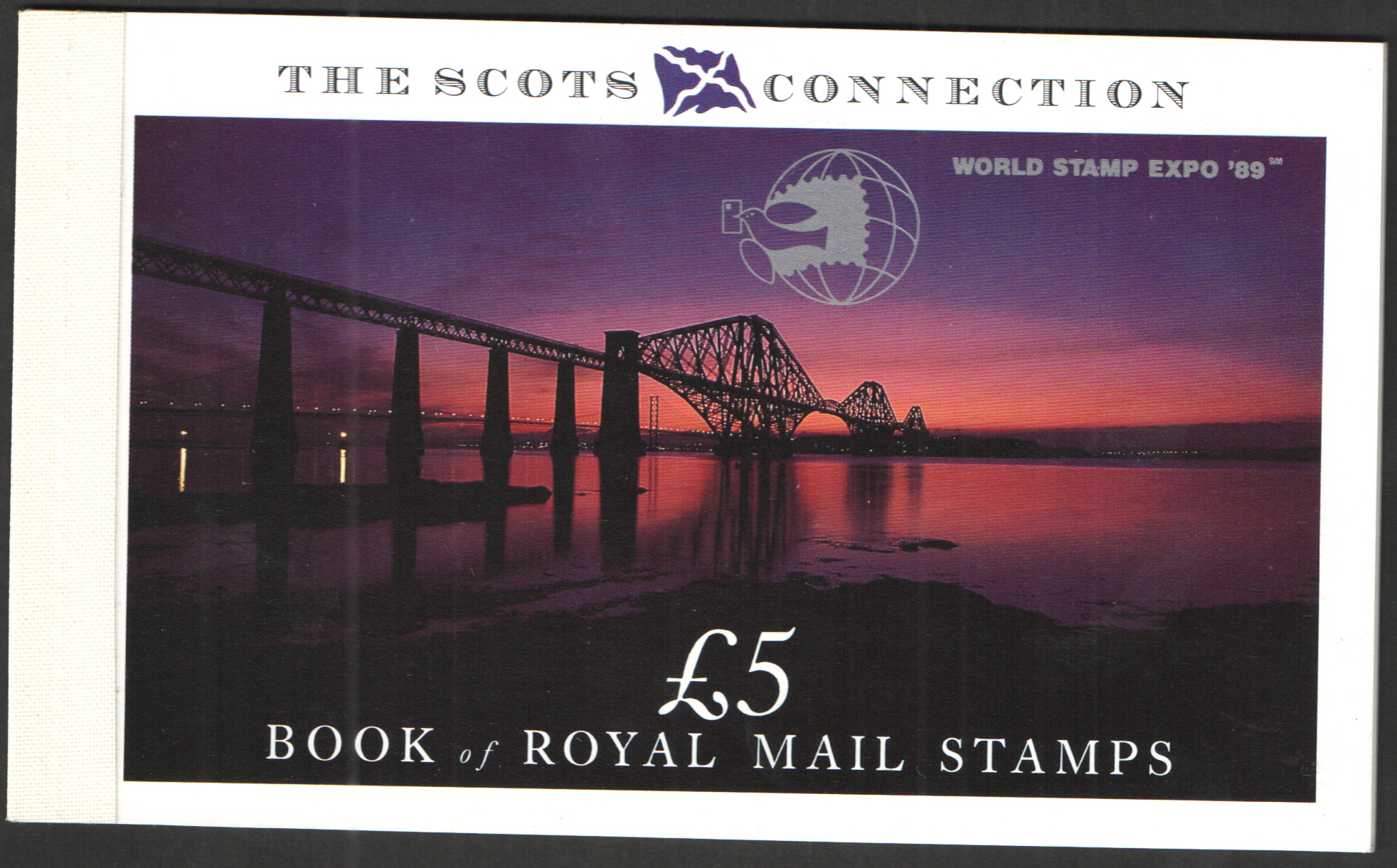 DX10 / DB5(10) World Stamp Expo Overprint 1989 Scots Connection Prestige Booklet