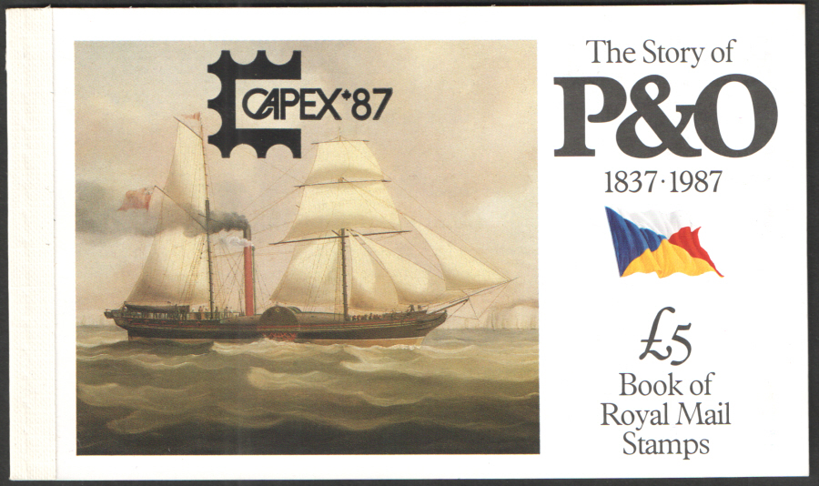 "DX8 / DB5(8) ""CAPEX '87"" Overprint Story of P&O Prestige Booklet"