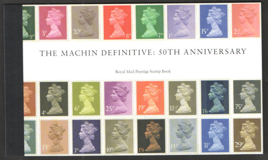 DY21 / DB5(73) 2017 Machin 50th Anniversary Royal Mail Prestige Booklet