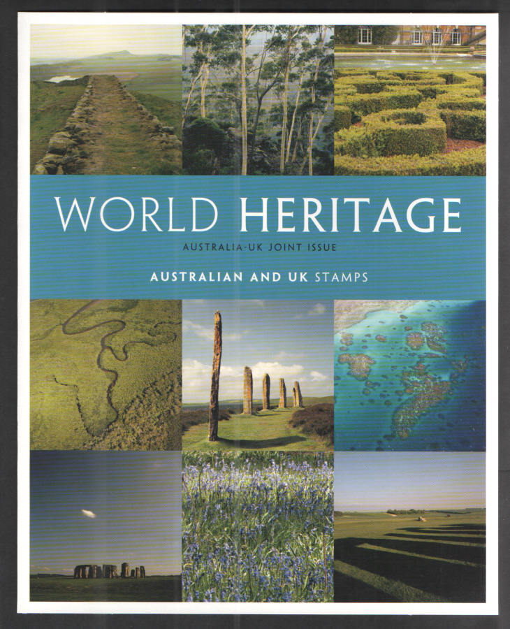 2005 World Heritage Sites UK & Australia Joint Issue Souvenir Pack