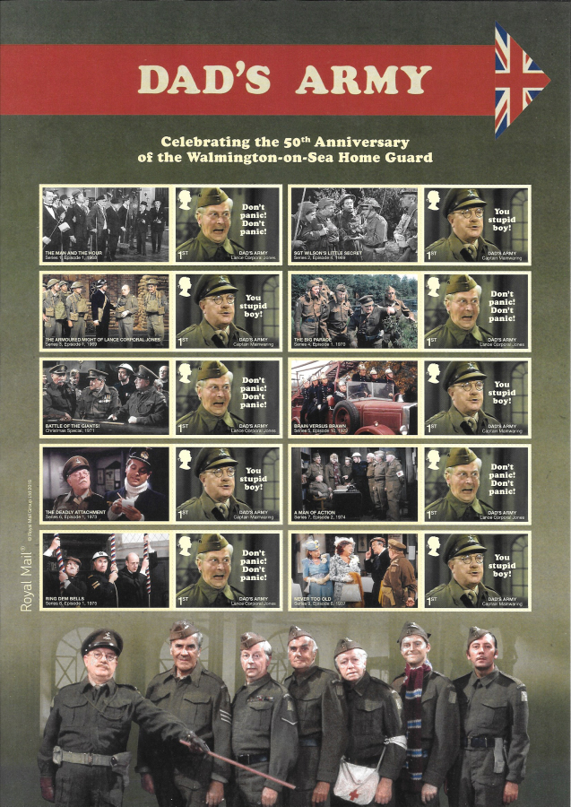 LS111 2018 Dad's Army Royal Mail Generic Smilers Sheet