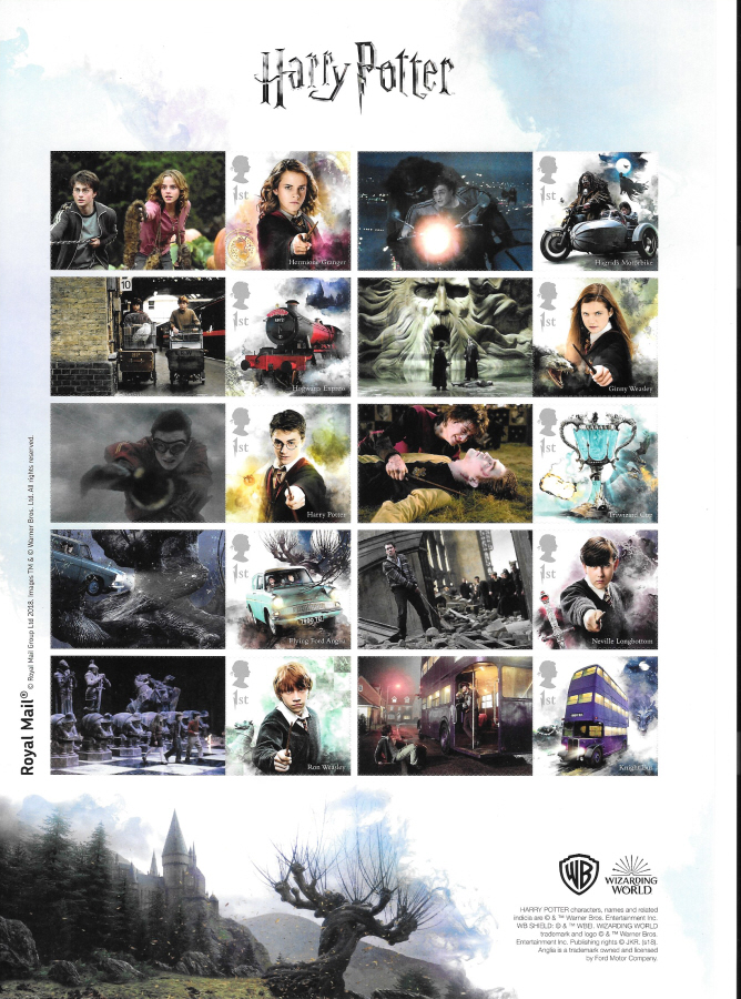 LS112 2018 Harry Potter Royal Mail Generic Smilers Sheet