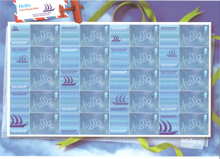 LS24 Pacific Explorer World Stamp Expo Royal Mail Smilers Sheet