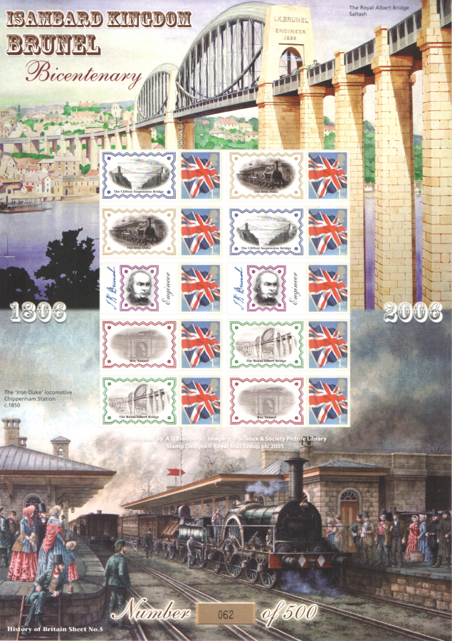 BC-083 2006 Isambard Kingdom Brunel History of Britain 5 Business Smilers Sheet