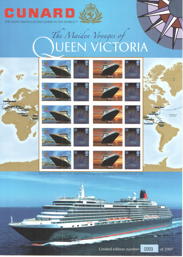 BC-127 2008 Cunard Queen Victoria Business Smilers Sheet