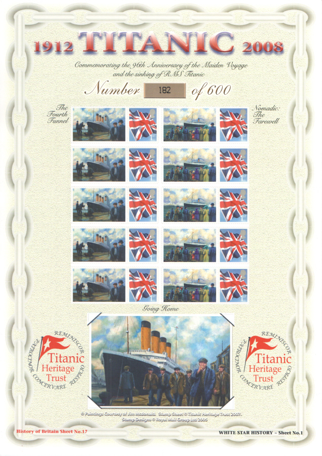 BC-140 2008 Titanic History of Britain No.17 Business Smilers Sheet