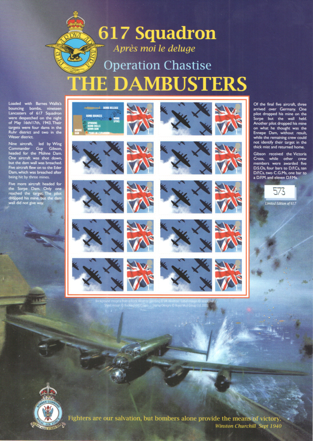 BC-151 2008 The Dambusters Operation Chastise Business Smilers Sheet