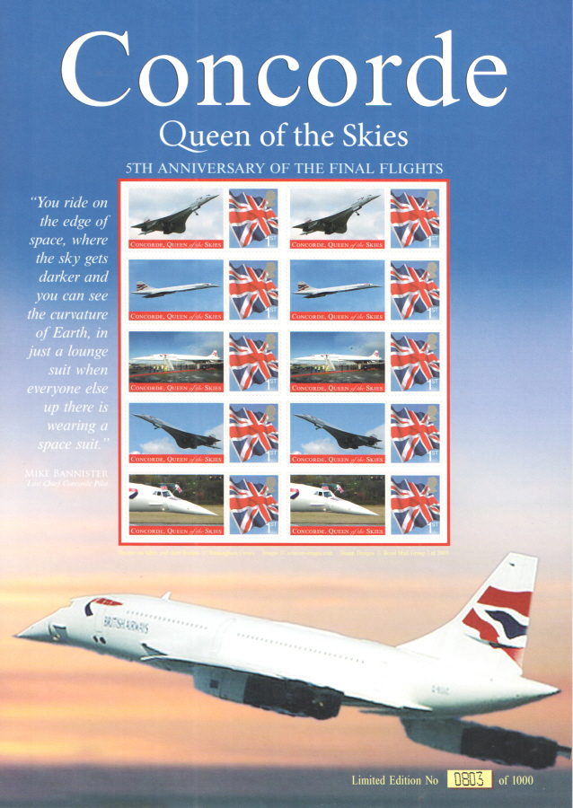 BC-152 2008 Concorde Queen of the Skies Business Smilers Sheet