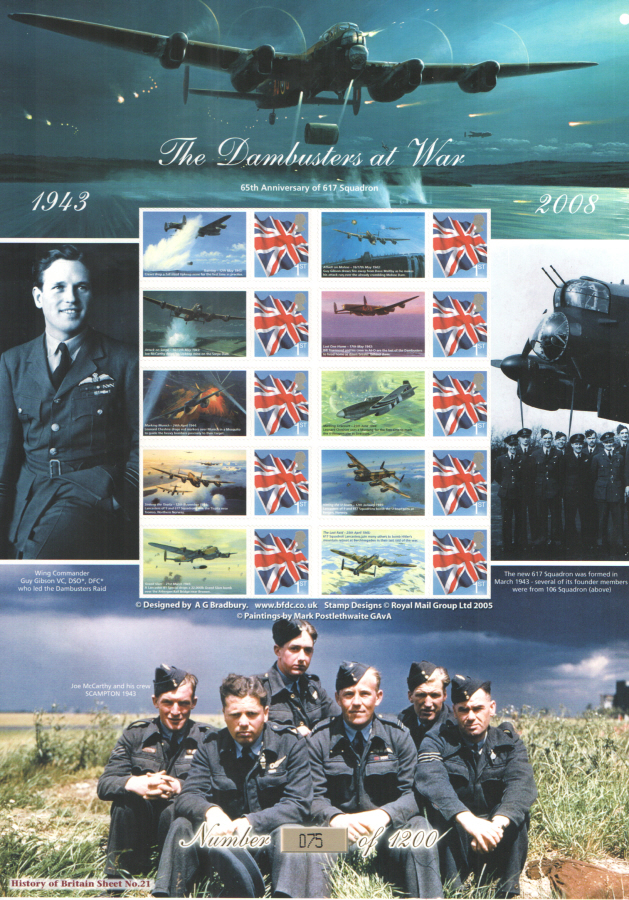 BC-165 2008 Dambusters At War History of Britain 21 Business Smilers Sheet