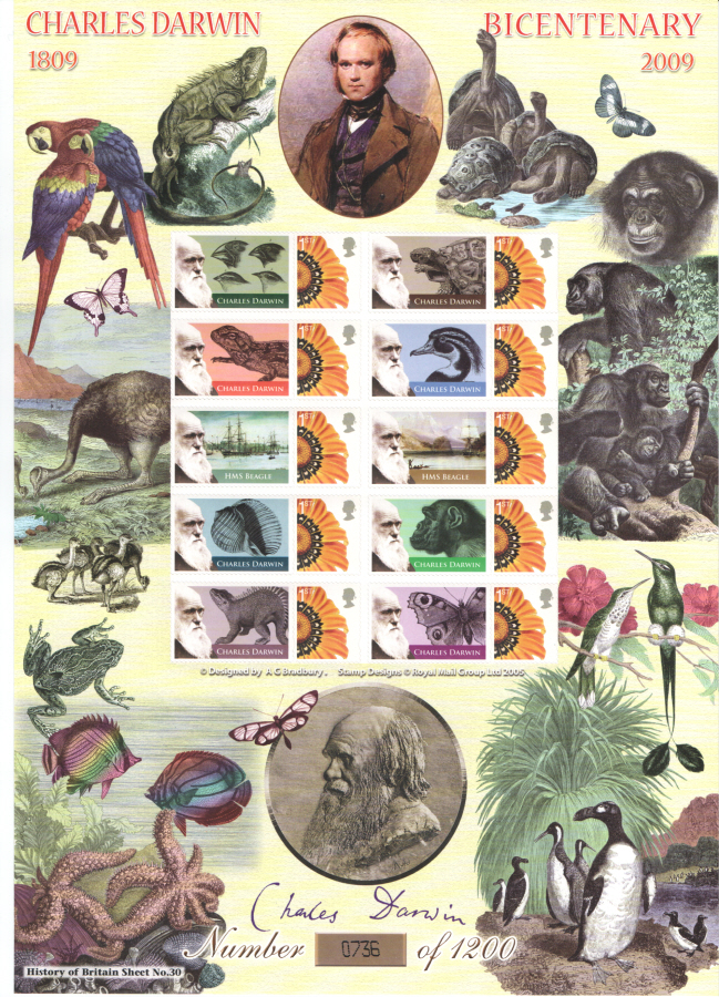 BC-196 2009 Charles Darwin History of Britain 30 Business Smilers Sheet