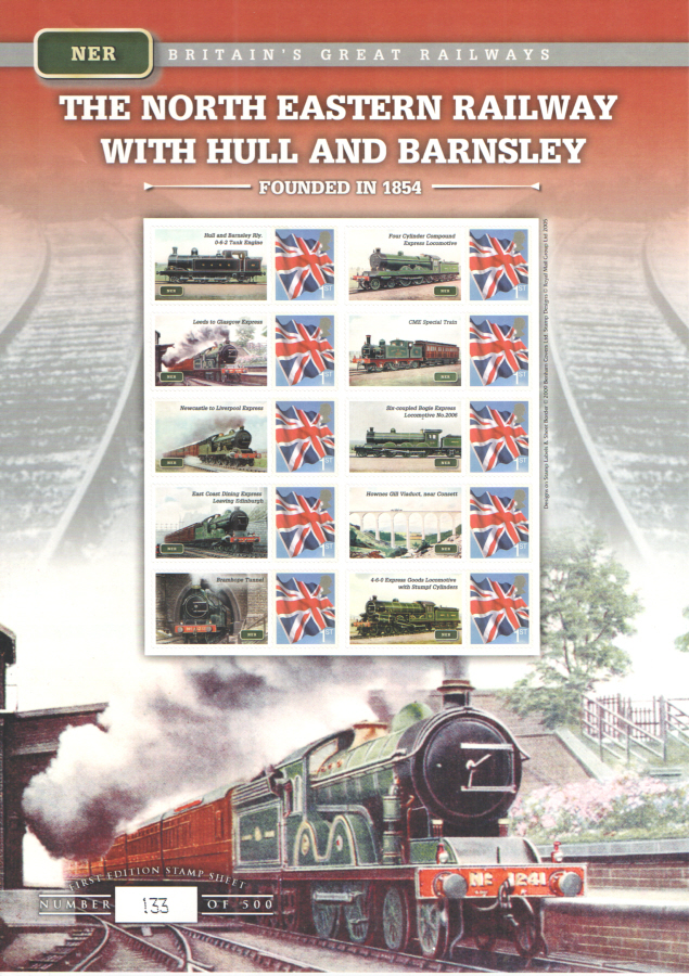 BC-216 2009 North Eastern Railway Business Smilers Sheet