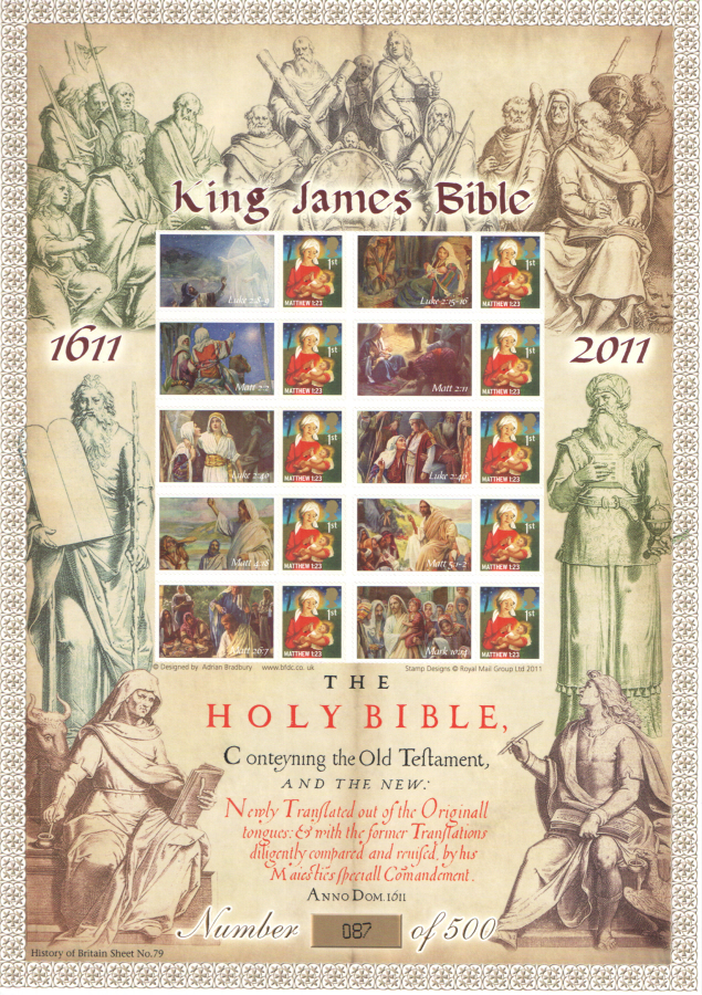 BC-356 2011 King James Bible History of Britain 79 Business Smilers Sheet