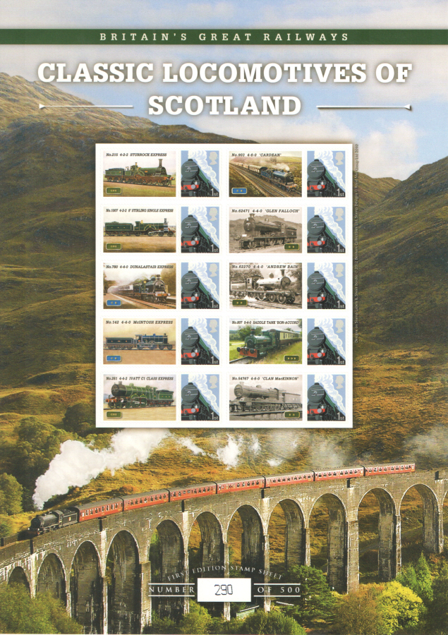 BC-371 2012 Classic Locomotives of Scotland Business Smilers Sheet