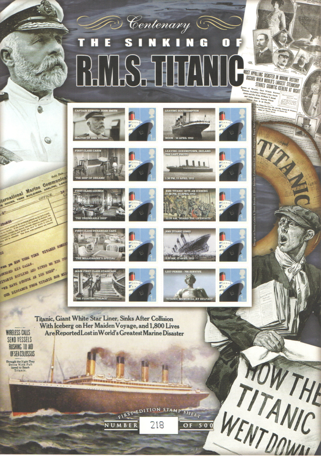 BC-373 2012 RMS Titanic Business Smilers Sheet