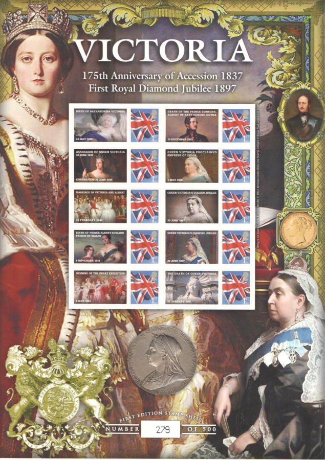 BC-385 2012 Victoria 175th Anniversary of Accession Business Smilers Sheet