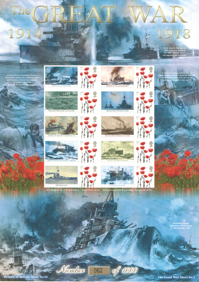 BC-404 2013 The Great War (II) History of Britain 95 Business Smilers Sheet