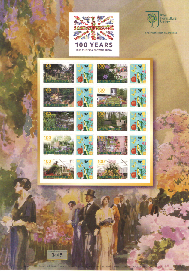 BC-405 2013 100 Years RHS Chelsea Flower Show Business Smilers Sheet