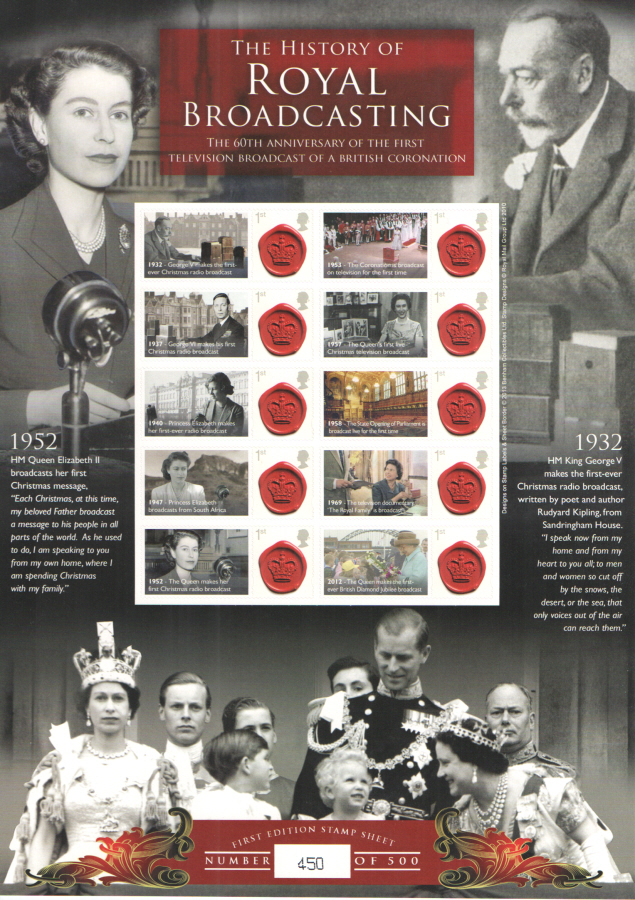 BC-406 2013 History of Royal Broadcasting Business Smilers Sheet
