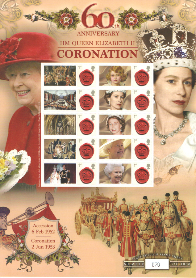 BC-407 2013 Coronation 60th Anniversary Business Smilers Sheet