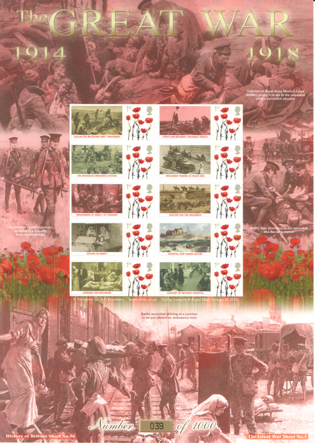 BC-414 2013 The Great War (III) History of Britain 96 Business Smilers Sheet