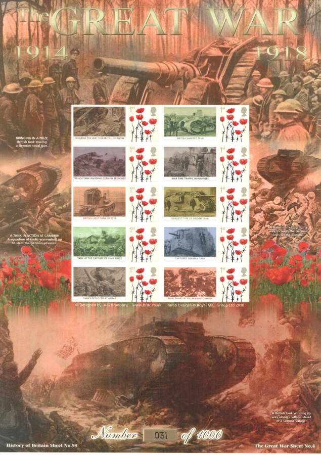 BC-430 2014 The Great War (IV) History of Britain 98 Business Smilers Sheet